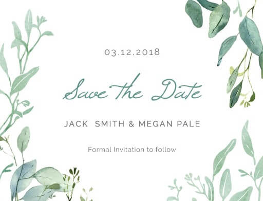Botanical Geo - Save The Date