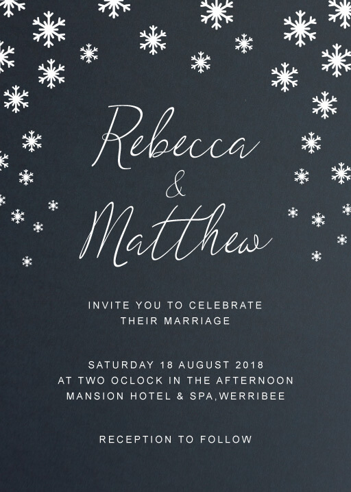 Snow fall Wedding Invitations - wedding invitations