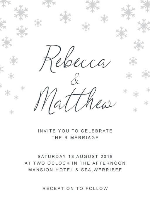 Snow fall - Wedding Invitations