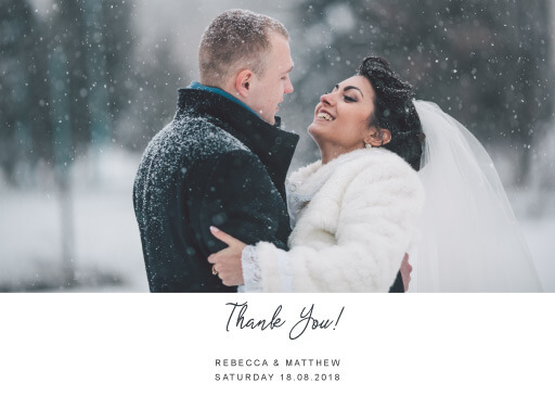 Snow fall - Thank You Cards