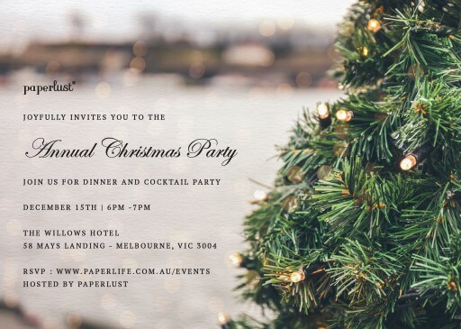 O Christmas Tree - christmas party invitations