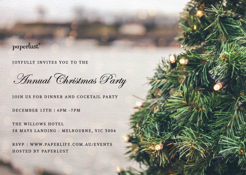 O Christmas Tree - Christmas Party Invitations