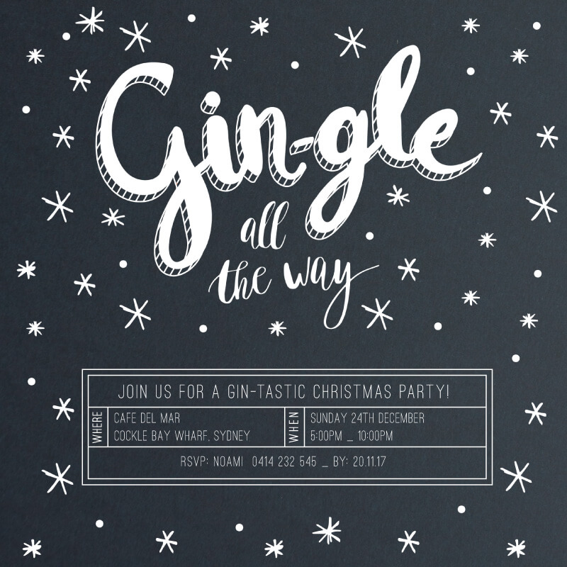 Gin-gle all the way - Christmas Party Invitations