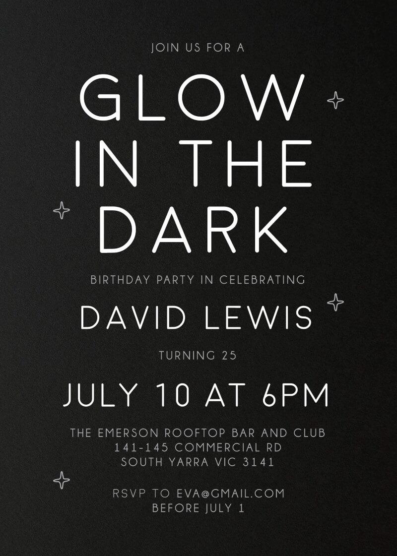 Light Oh Light - Birthday Invitations