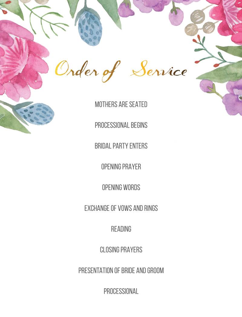 Native Bloom - Wedding Programs