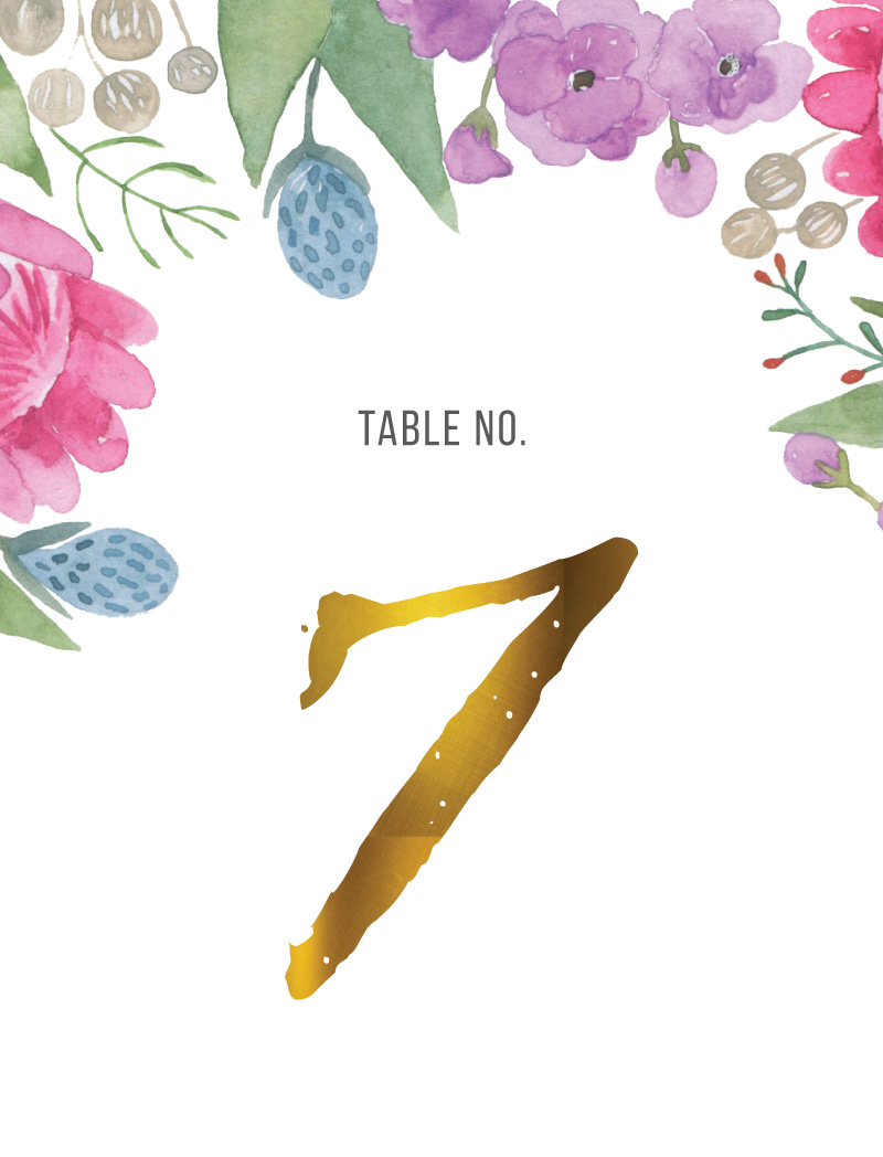 Native Bloom - Table Numbers