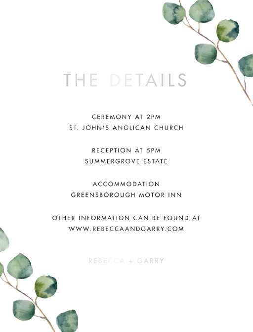 Eucalypt Estate - Information Cards