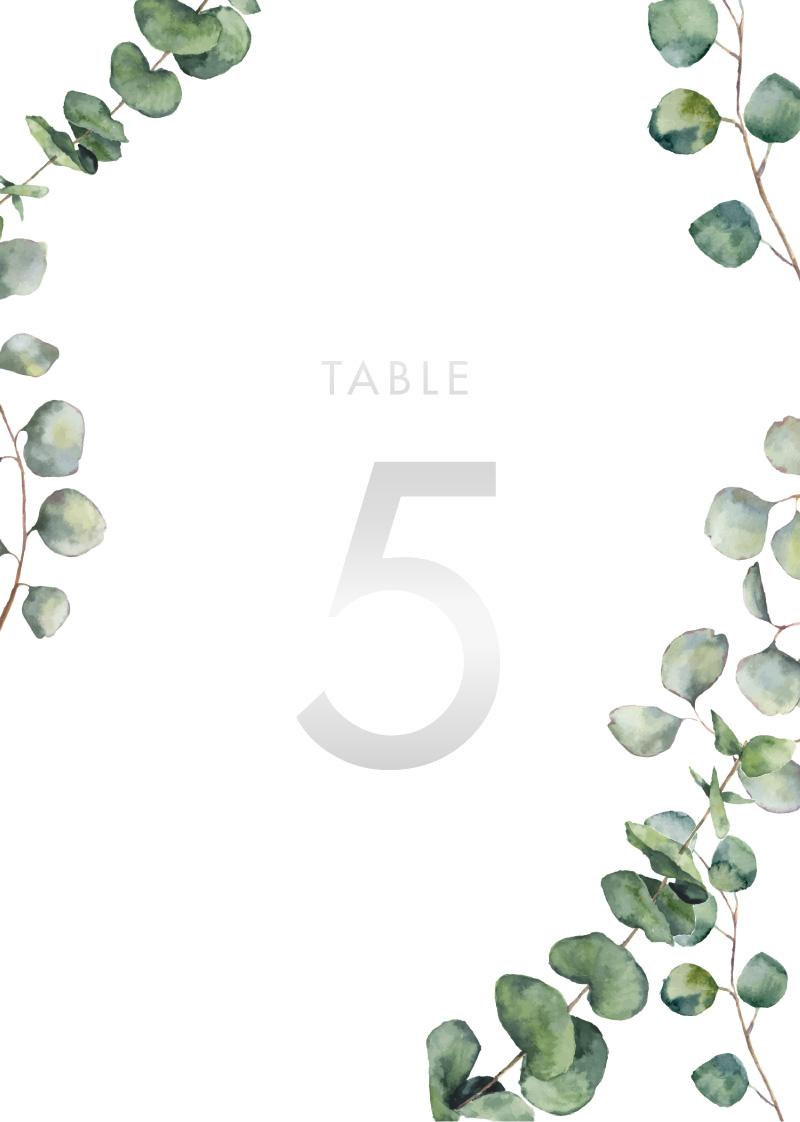 Eucalyptus Estate - Table Numbers