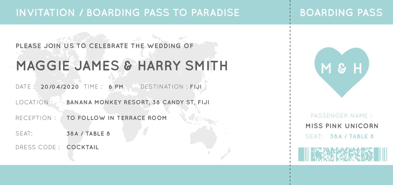 Blue Paradise - Wedding Invitations