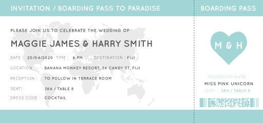 Blue Paradise Wedding Invitations - wedding invitations