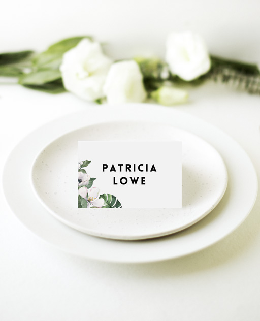 White Summer - Place Cards