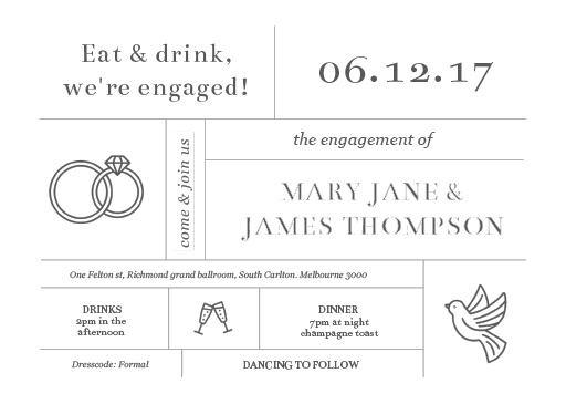 Type on Line - engagement invitations