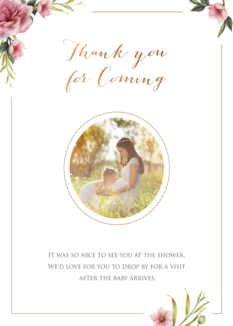 It's a Miracle - Baby Shower Thank You Cards