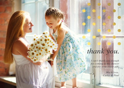 A sweet thank you - baby shower thank you cards