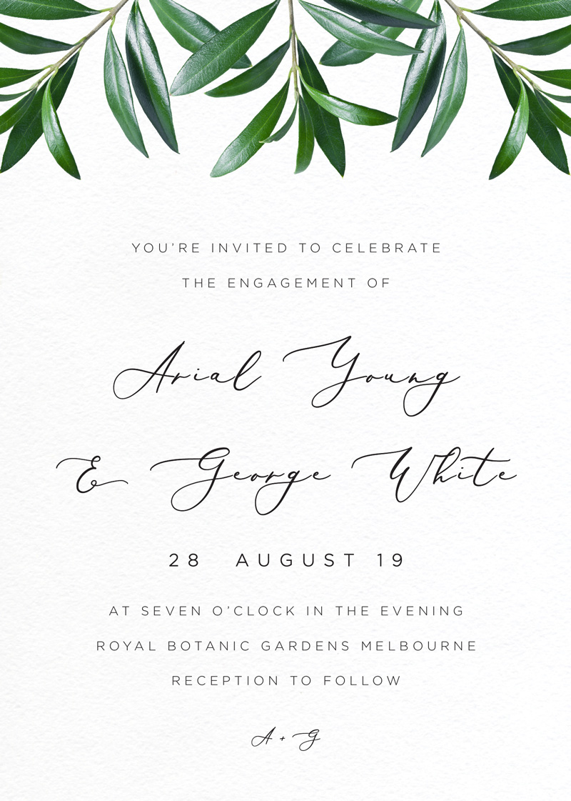 Olive - Engagement Invitations