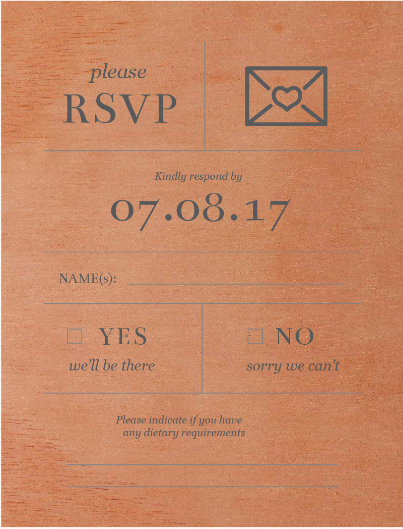 Type on Line - RSVP Cards