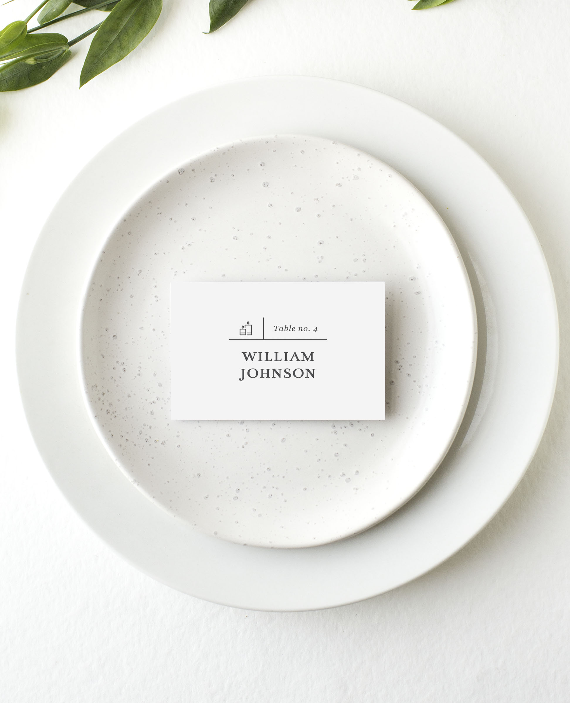 Type on Line - Place Card