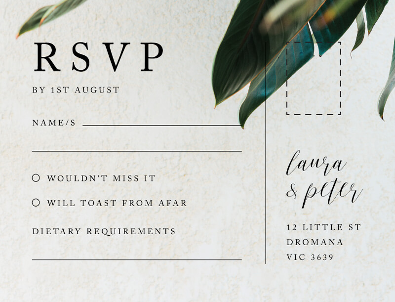 Tropical Leaves - Rsvp