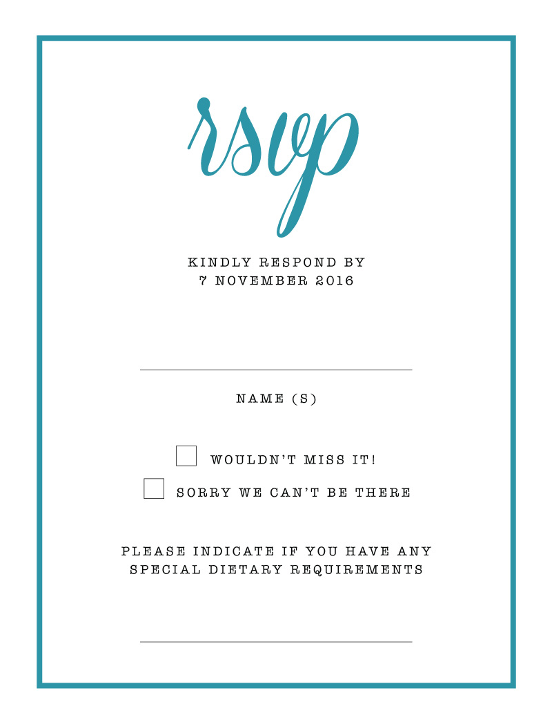 Black & White - RSVP Cards