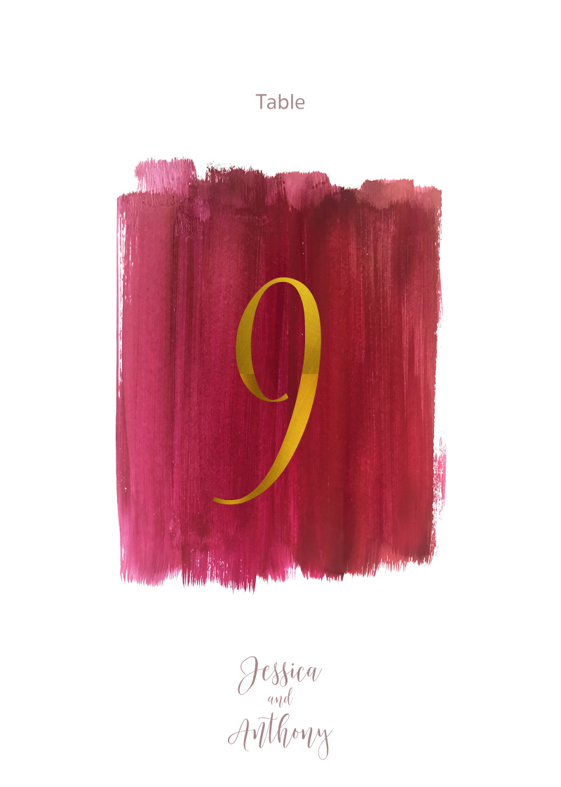 Pinot Noirs And Chardonnays - Table Numbers