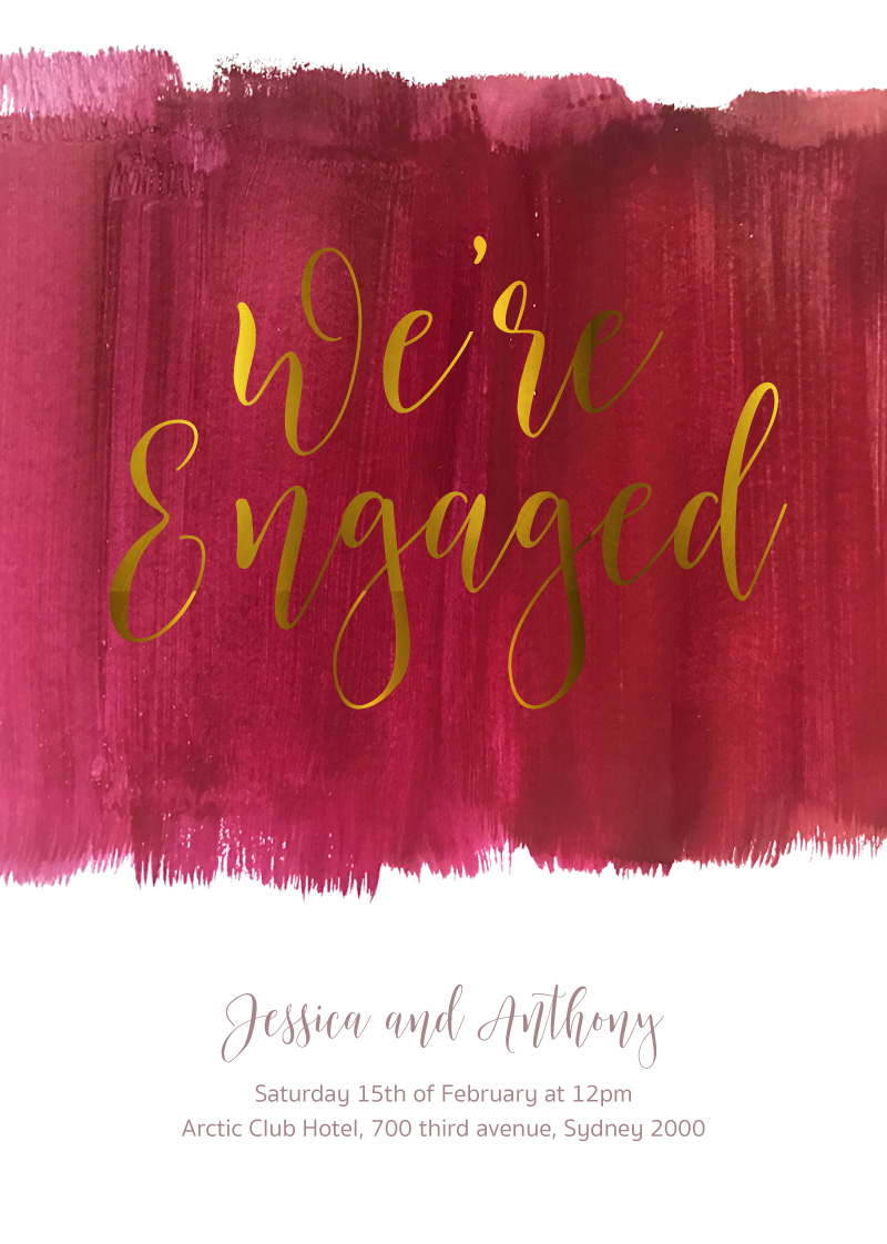 Pinot Noirs And Chardonnays - Engagement Invitations