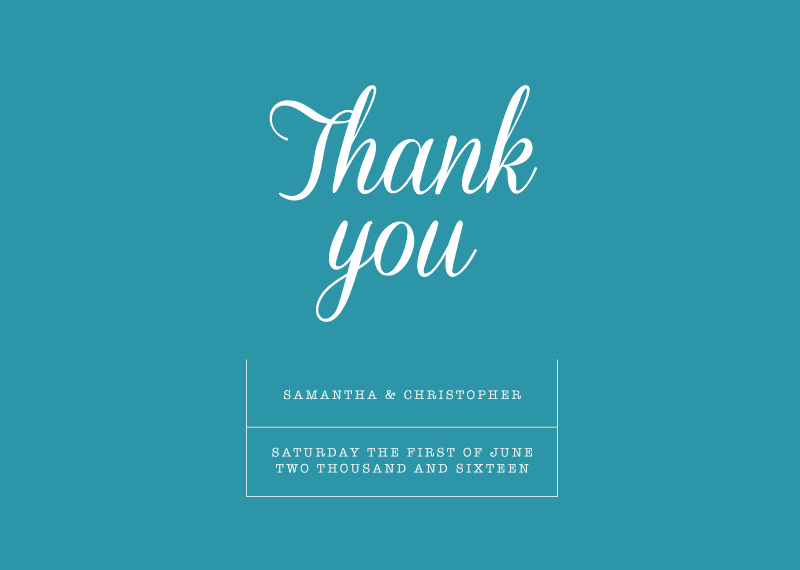 Black & White - Thank You Cards