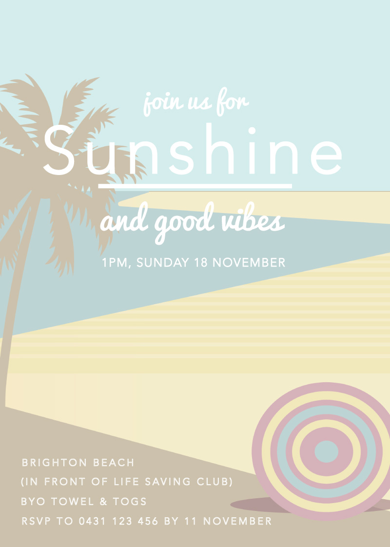 Beach vibes - Birthday Invitations