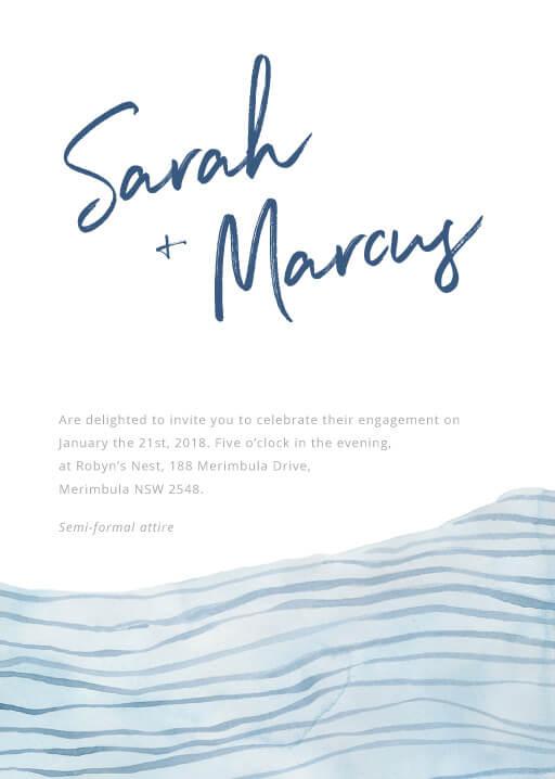 Soft Waves - engagement invitations