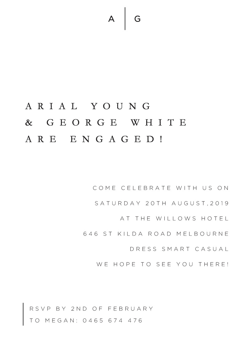 Nouveau - Engagement Invitations