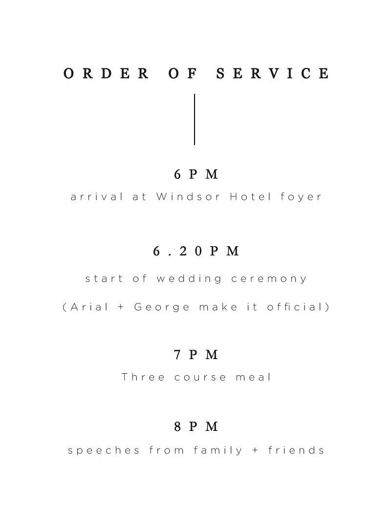Nouveau - Order Of Service