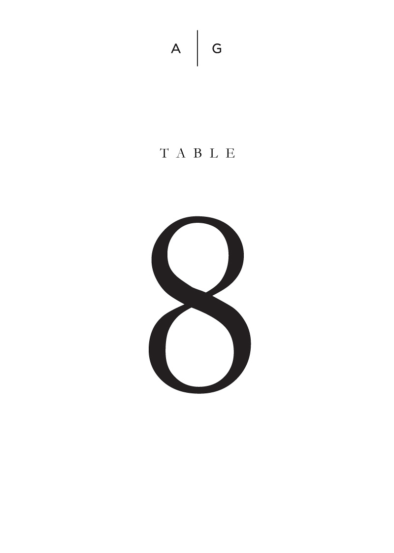 Nouveau - Table Numbers