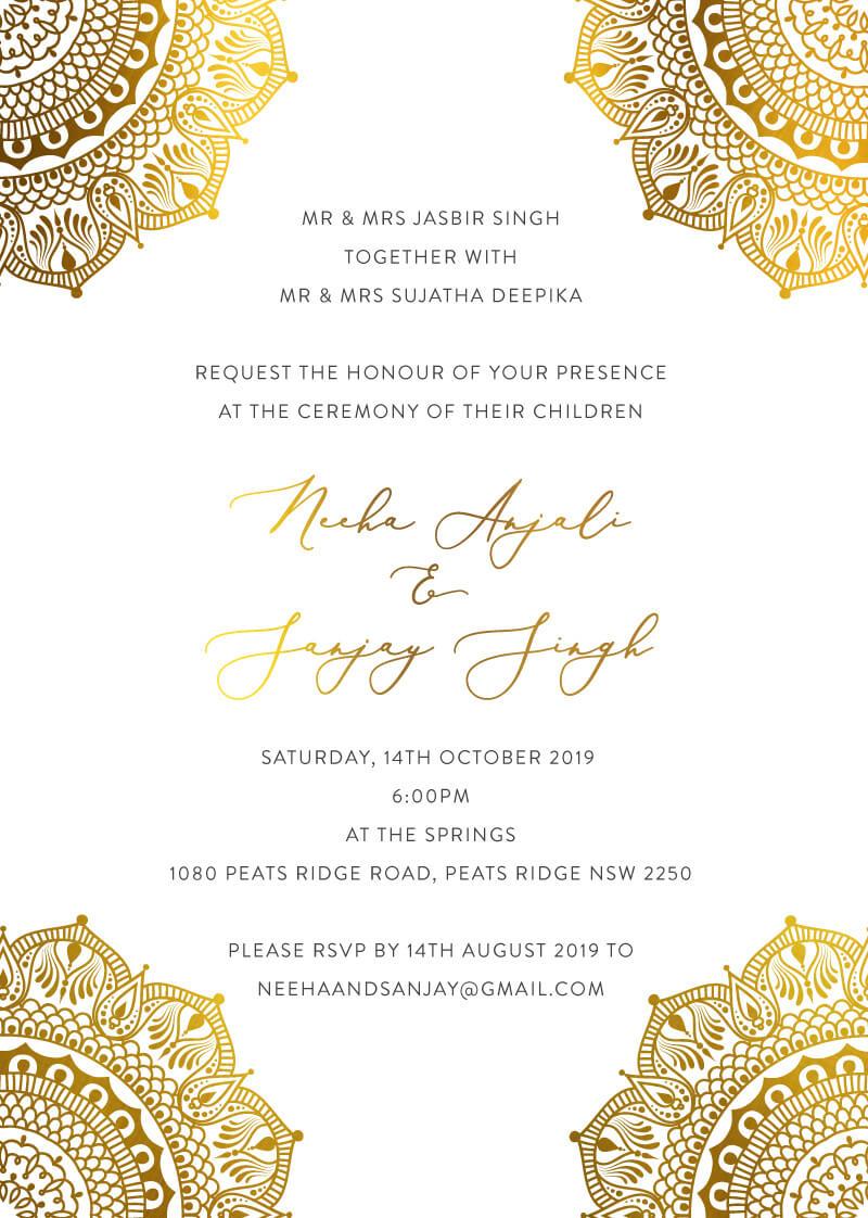 White Vivaha - Wedding Invitations