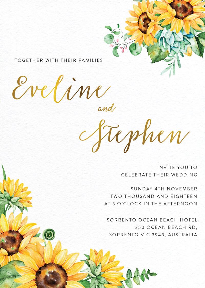 Sunflower - Wedding Invitations