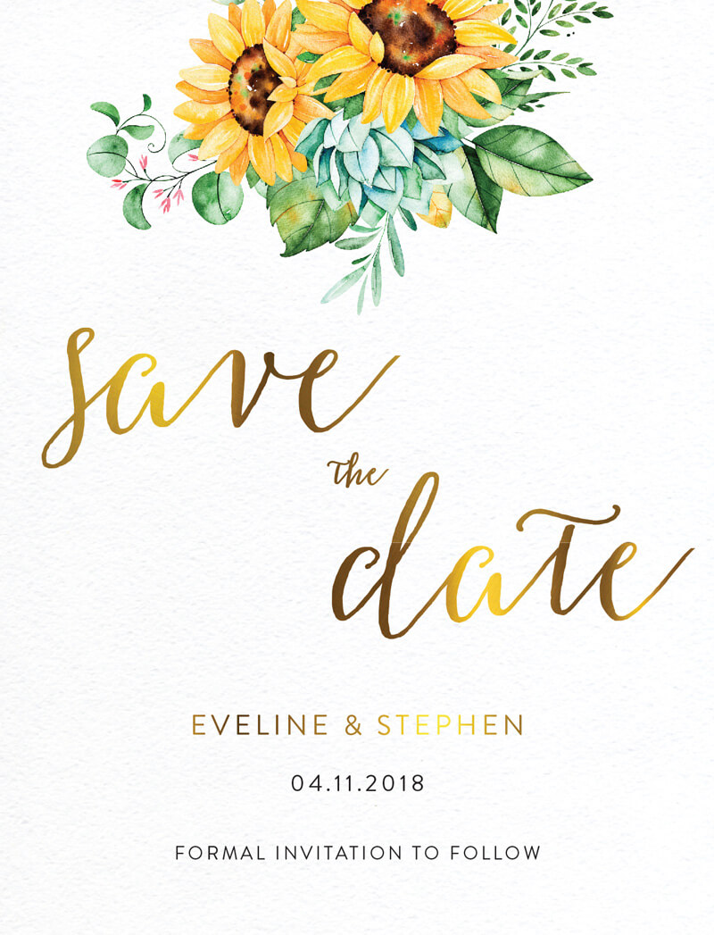 Sunflower - Save The Date