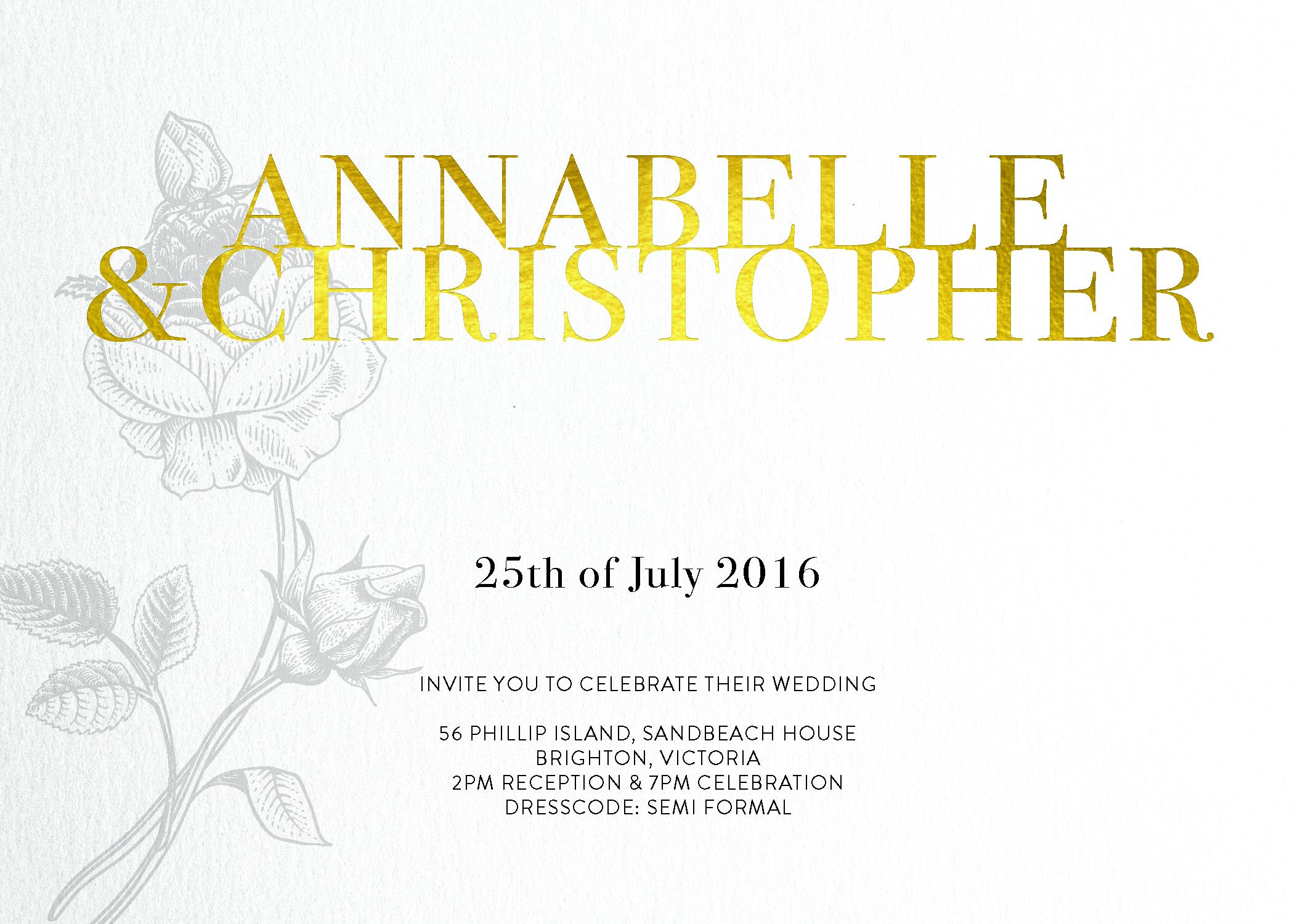 Botany Classic - Invitations