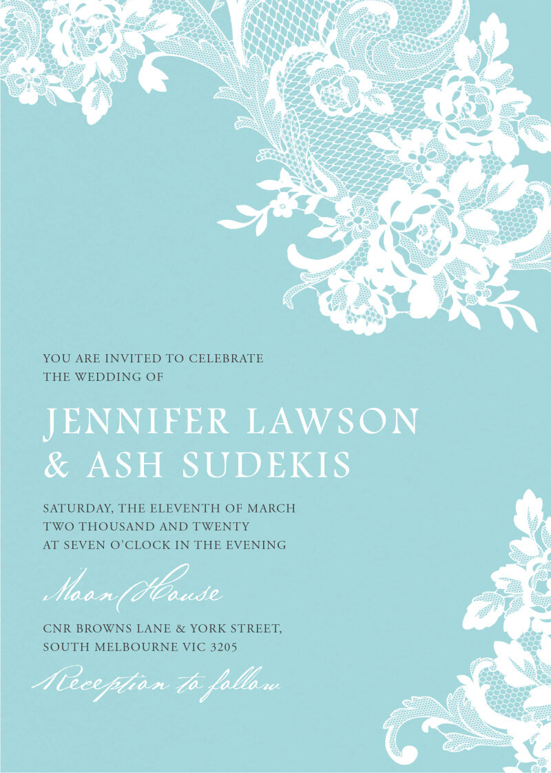 Breakfast at Tiffany's - Wedding Invitations