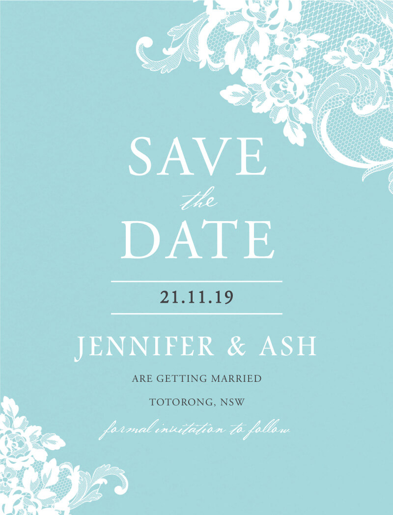 Breakfast at Tiffany's - Save The Date
