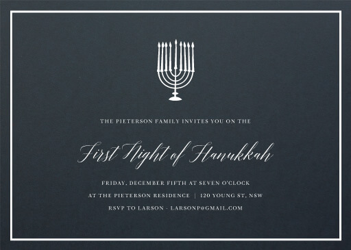 Night of Hanukkah - corporate event invitations