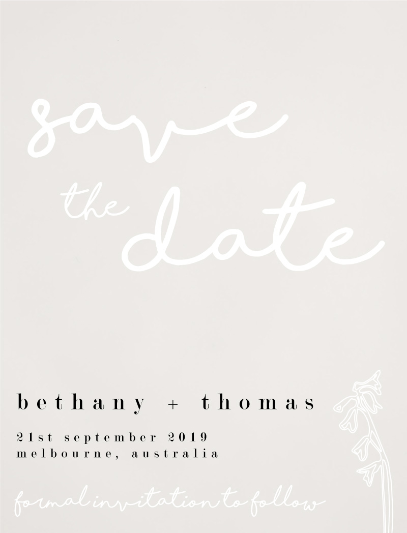 Blanc Bloom - Save The Date
