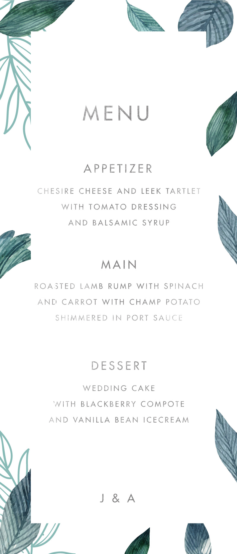 Stylistically Green - Menu