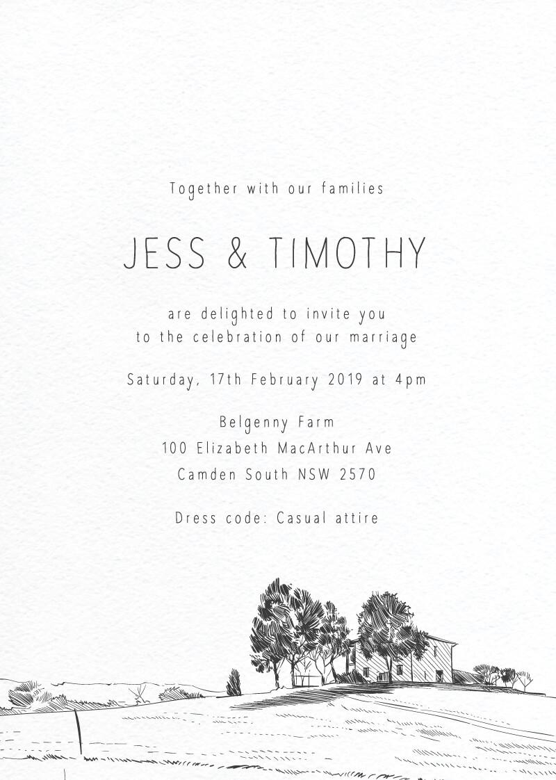 Farmyard Portrait - Wedding Invitations