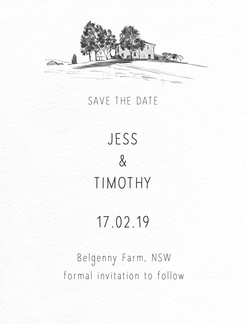 Farmyard Portrait - Save The Date