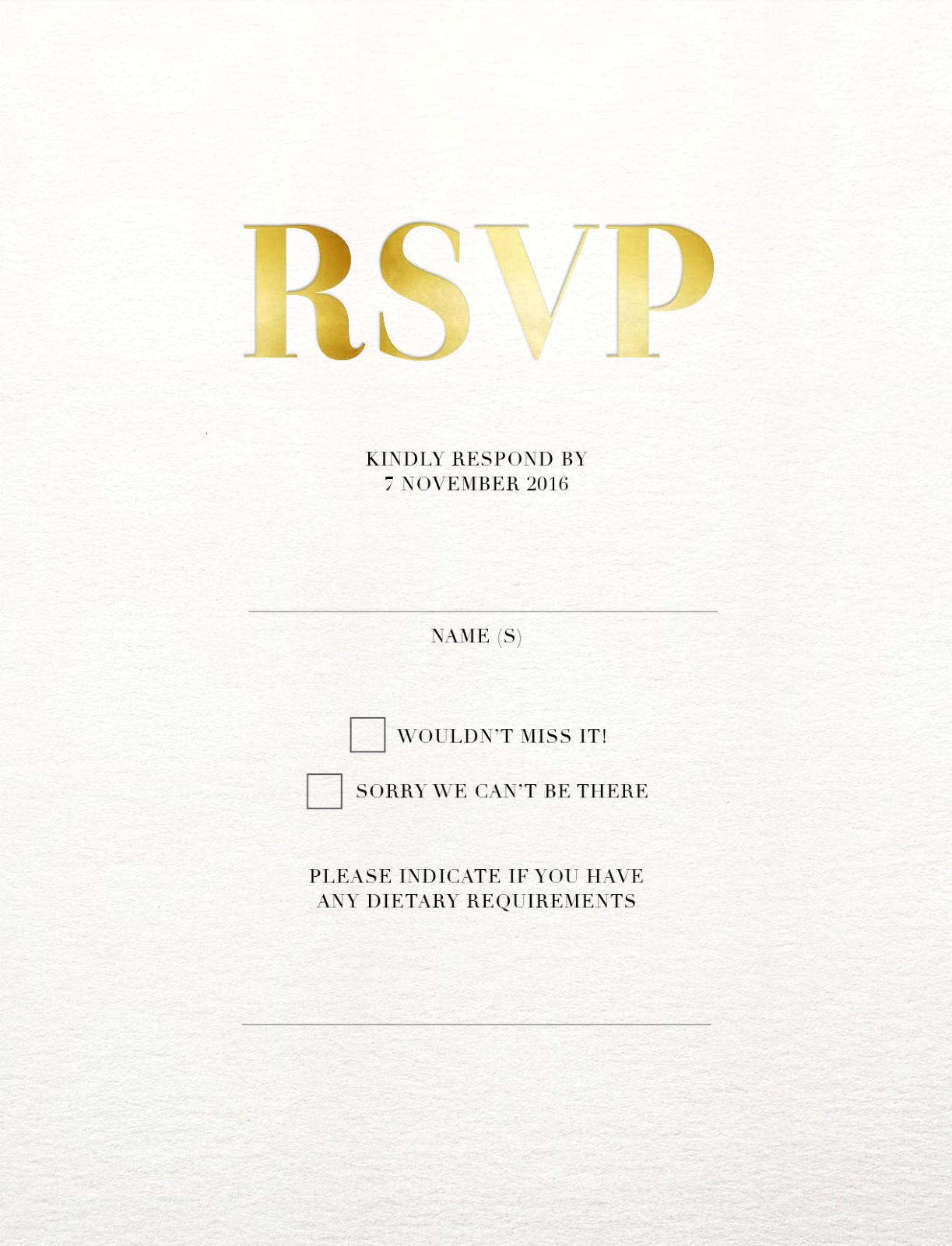Geometric Diagonal - RSVP Cards