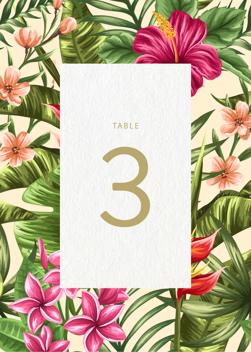Sweet Tropical - Table Numbers