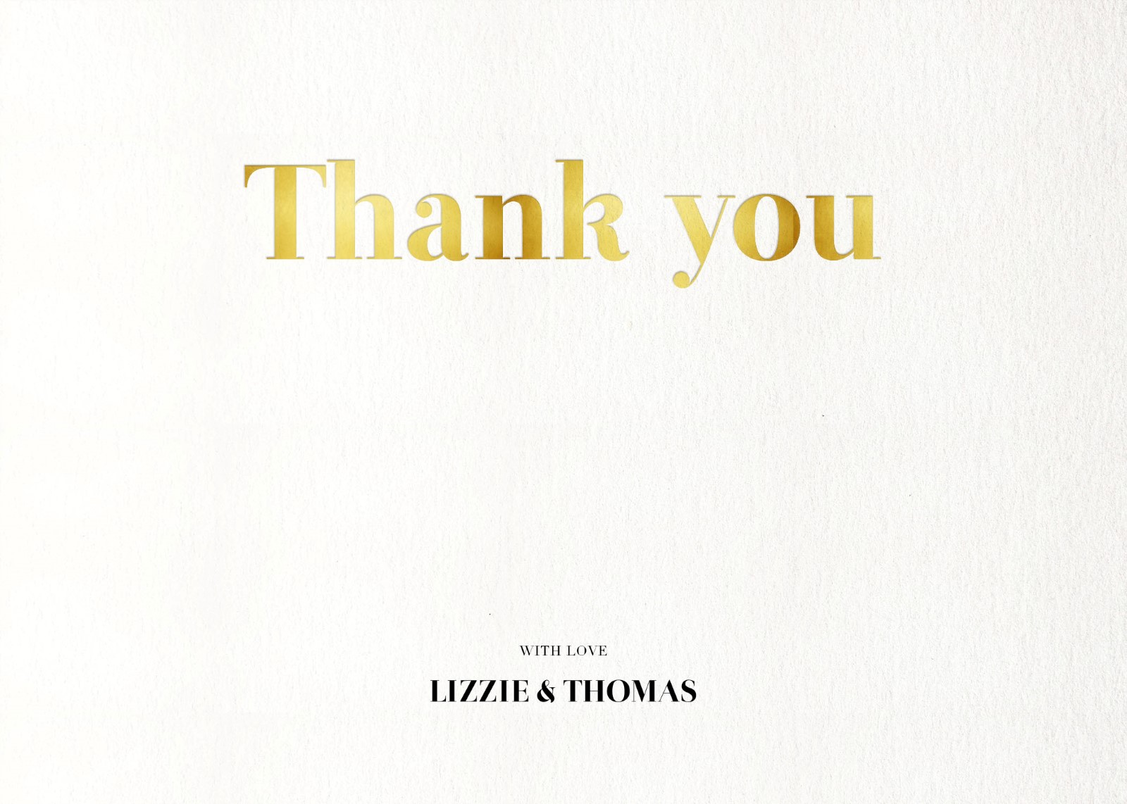 Geometric Diagonal - Thank You Cards