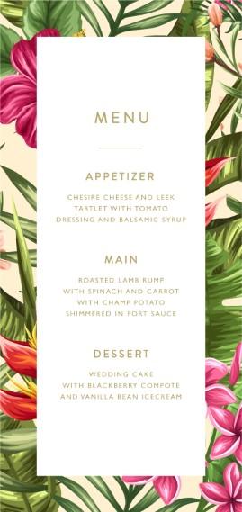 Sweet Tropical - Wedding Menu