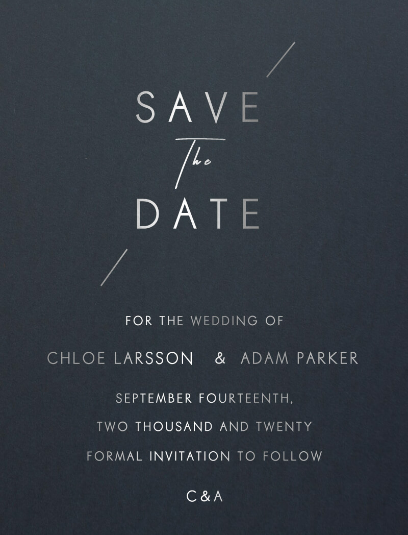Modern Mode - Save The Date