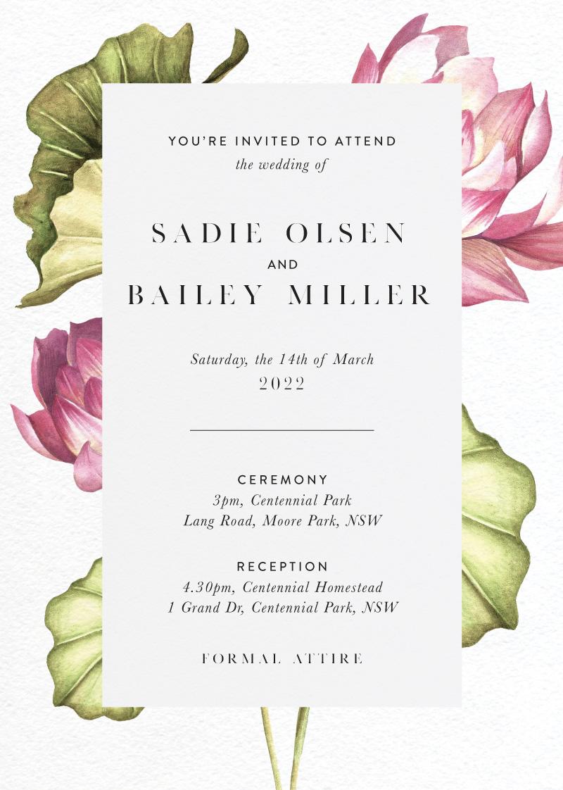 Tropical Oasis - Wedding Invitations