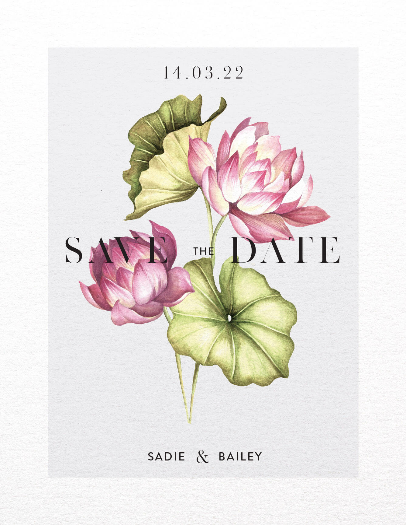 Tropical Oasis - Save The Date