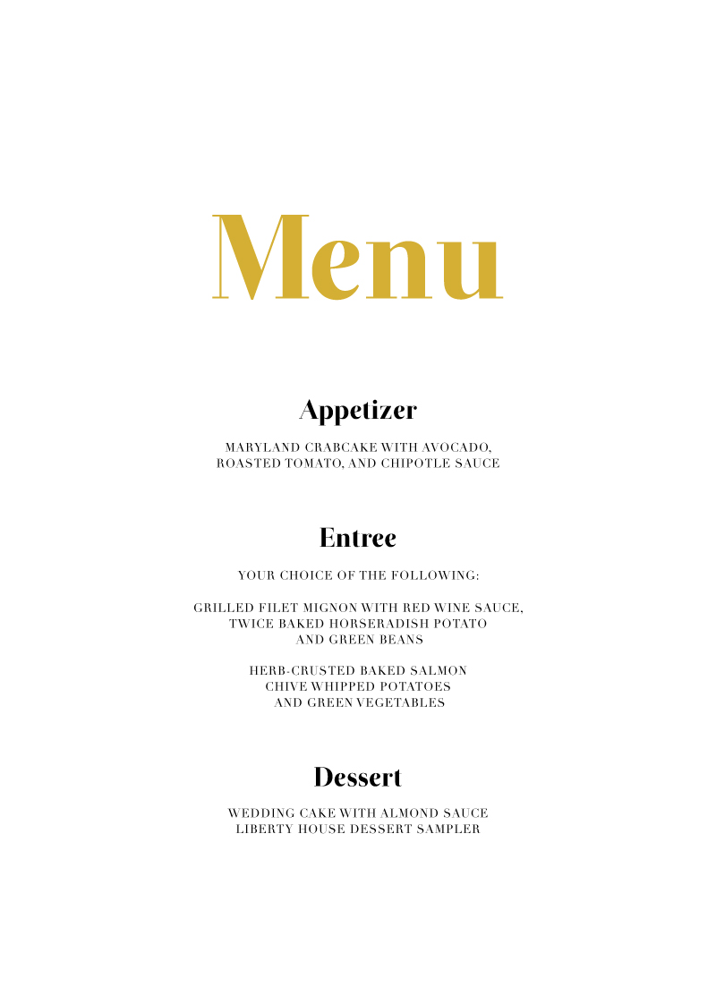 Geometric Diagonal - Menu Card